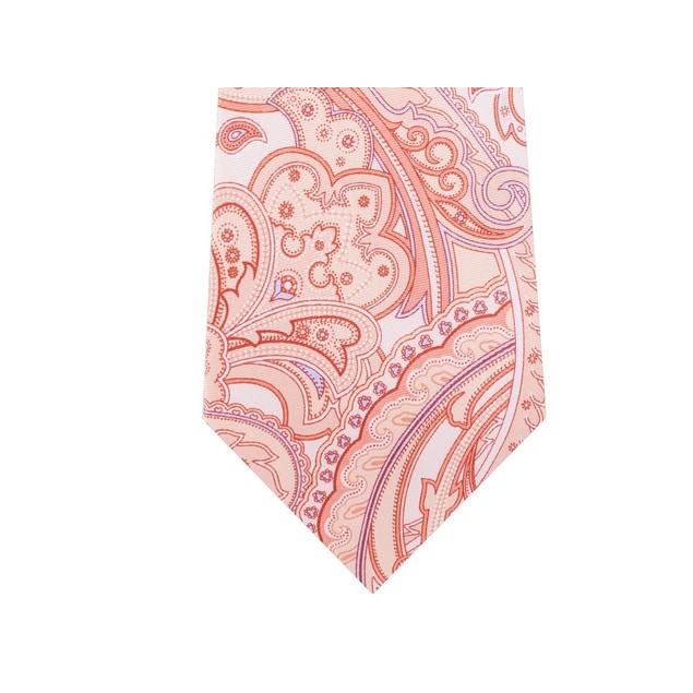 Michael Kors Men's Perfect Paisley Silk Tie Orange Size Regular