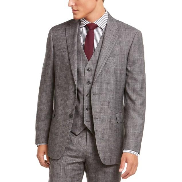 Tommy Hilfiger Men's Modern-Fit Thflex Suit Separate Jacket Gray Size 38