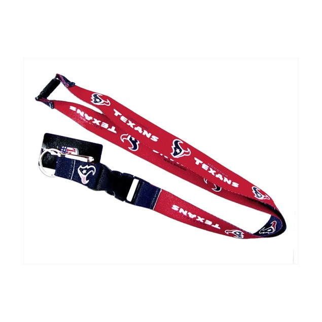 Houston Texans Clip Lanyard Keychain Id Holder Red