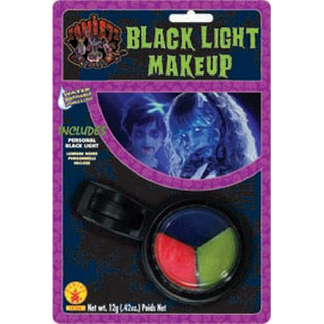 Zombie Black Light Makeup Kit UV Halloween Pink Blue Yellow Rave Party