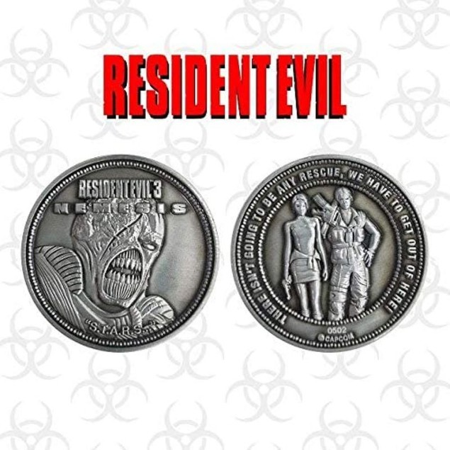 Resident Evil 3 Limited Edition Collectable Coin Silver Edition