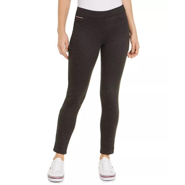 Tommy Hilfiger Women's Fleece Pull On Pants Dark Gray Size Small
