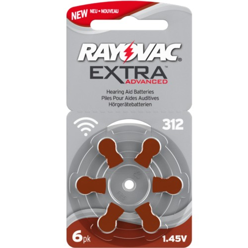 Rayovac Size 312 MF Zinc Air Hearing Aid Batteries (60 pack)