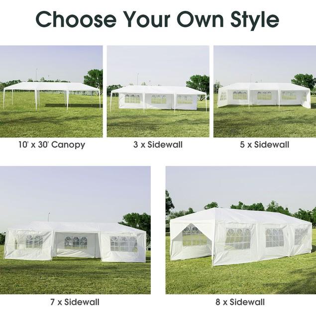 Costway 10'x30' Outdoor Party Wedding Tent Canopy Heavy duty Gazebo