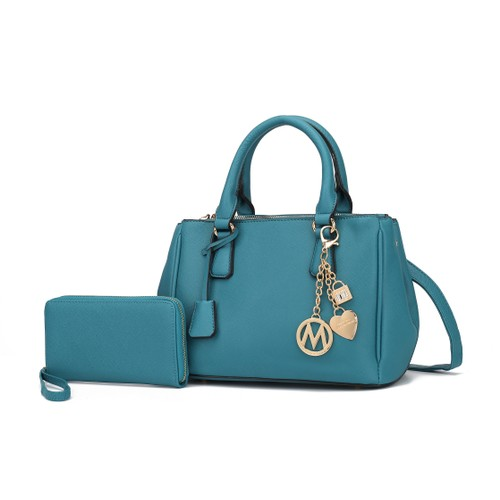 MKF Collection Cassandra Multi Compartment Satchel with Wallet by Mia K