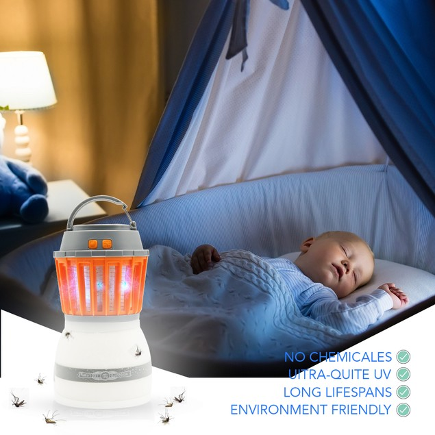 Bug Zapper-Portable Mosquito Eliminator & Camping Lantern Insect Fly Killer