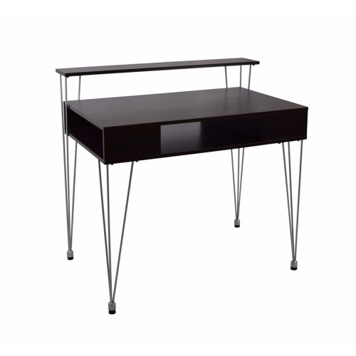 Proman Products Modern Raised Hutch Marcus Junior Desk with Metal Legs