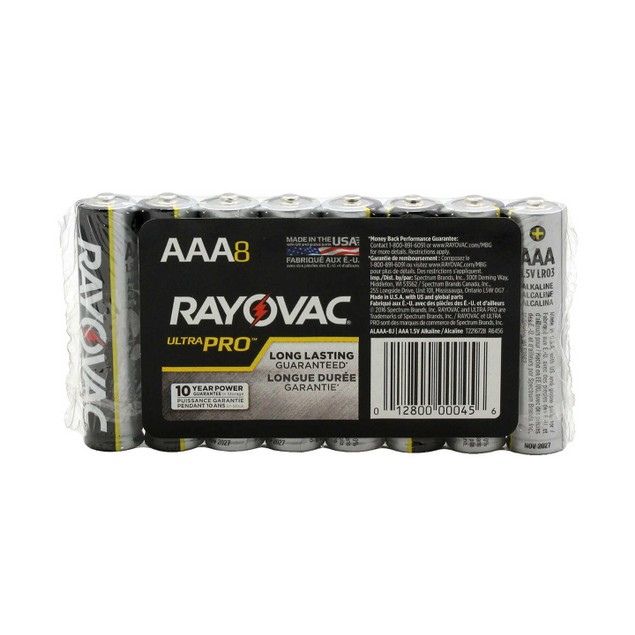 Rayovac Ultra Pro Alkaline AAA Batteries (8 Batteries)