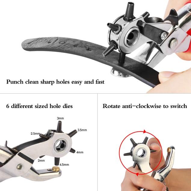 """9"""" Heavy Duty Belt Hole Punch Hand Pliers"""