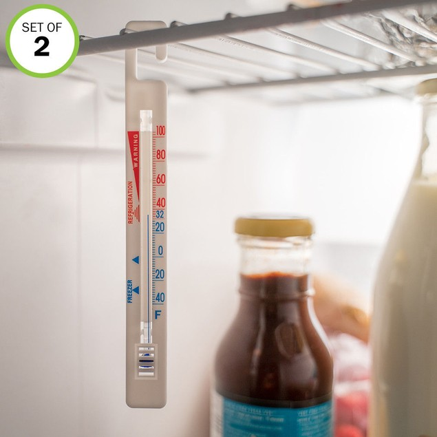 Hanging Refrigerator Freezer Room Thermometers, Save on Food, Set of 2
