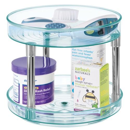 "mDesign 2-Tier Spinning Turntable Food Storage Organize, 9"" Round"