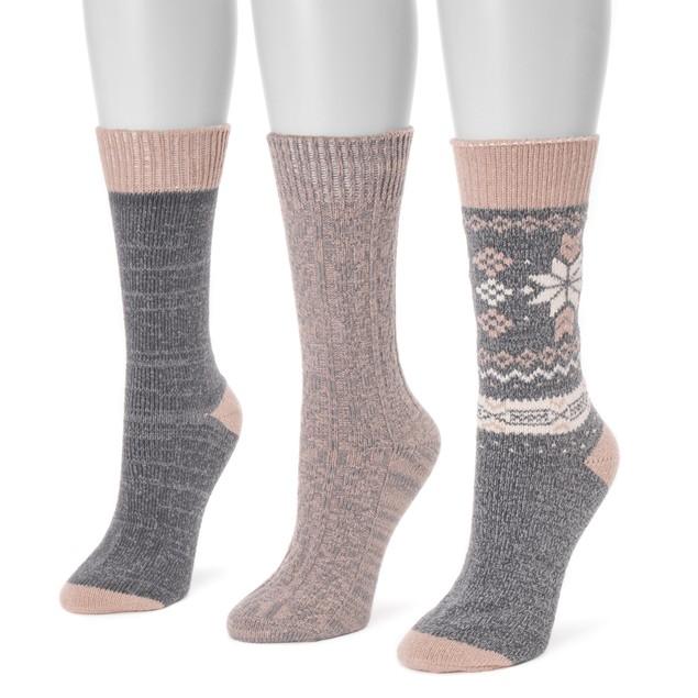 MUK LUKS ® Women's 3 Pair Pack Boot Socks