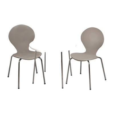 Giftmark Childrens Table And 2 Chairs With Chrome Legs (Grey Color Chairs)