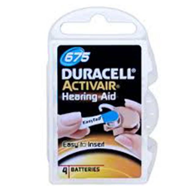 Duracell Activair Size 675 Zinc Air Hearing Aid Batteries (40 pack)