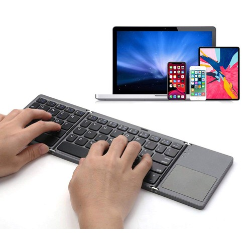 Foldable Wireless Touch Keyboard