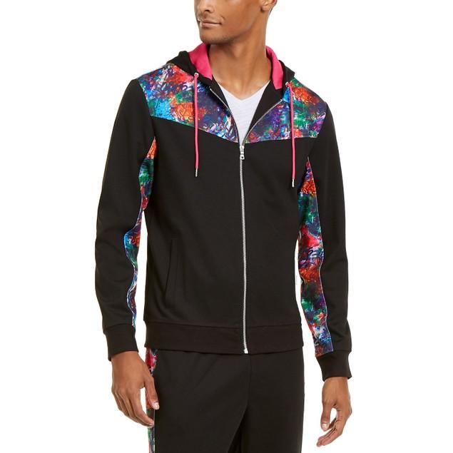 INC International Concepts Men's Spotlight Track Jacket Black Size XX Large