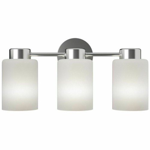 Costway 3-Light Wall Sconce Modern Bathroom Vanity Light Fixtures w/ Opal G