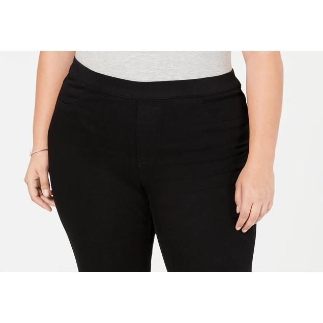 Style & Co Women's Plus Size Jeggings Black Size 24W
