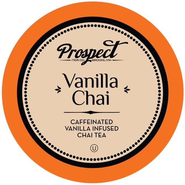 Prospect Tea Caffeinated Vanilla Chai Tea Pods, 40 Count