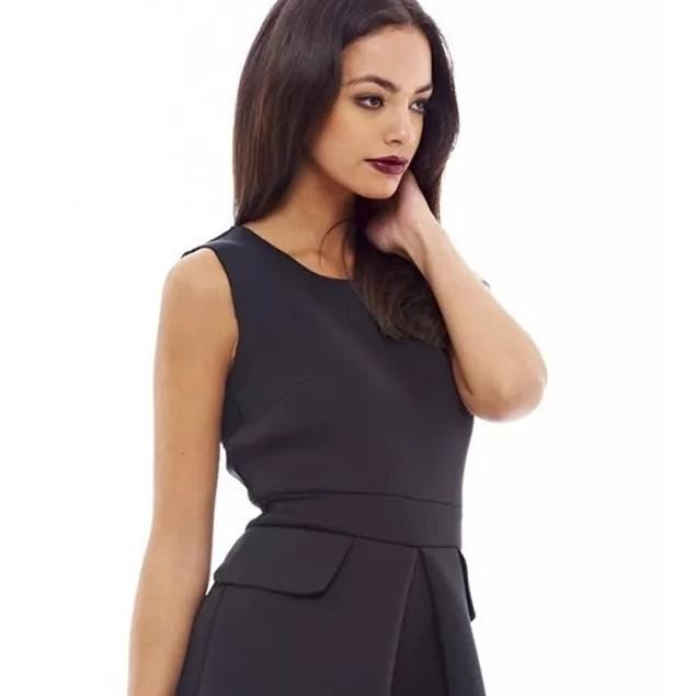 AX Paris Women's Scuba Pleated Dress Black Size 10