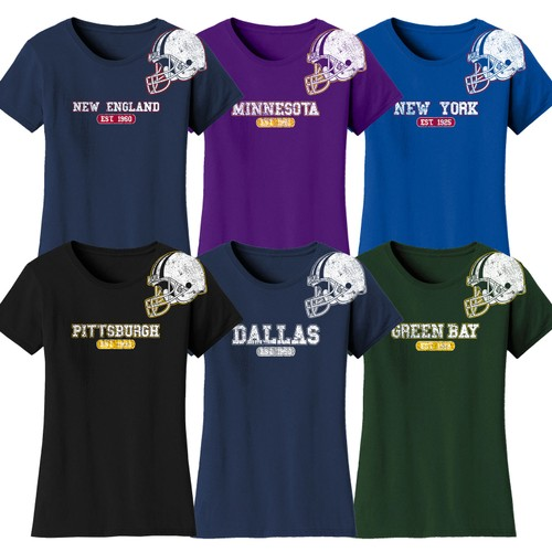 Women's Awesome Football Helmet T-Shirts