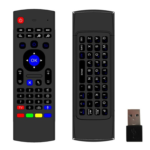 Wireless Remote Control Keyboard Air Mouse For XBMC Android TV Box Mini PC