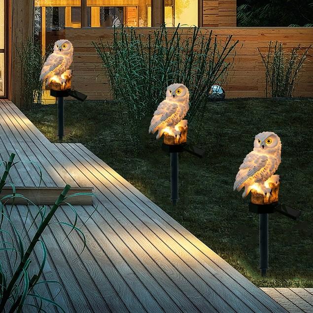Solar Owl Landscape Light