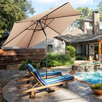Costway 10FT Patio Umbrella W/ Crank
