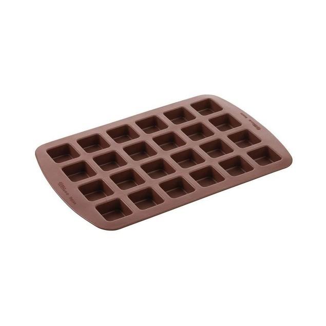 Wilton 24 Silicone Brownie Cake Squares Dessert Baking Mold
