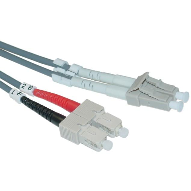 Fiber Optic Cable, LC / SC, Multimode, Duplex, 50/125, 1 meter (3.3 foot)