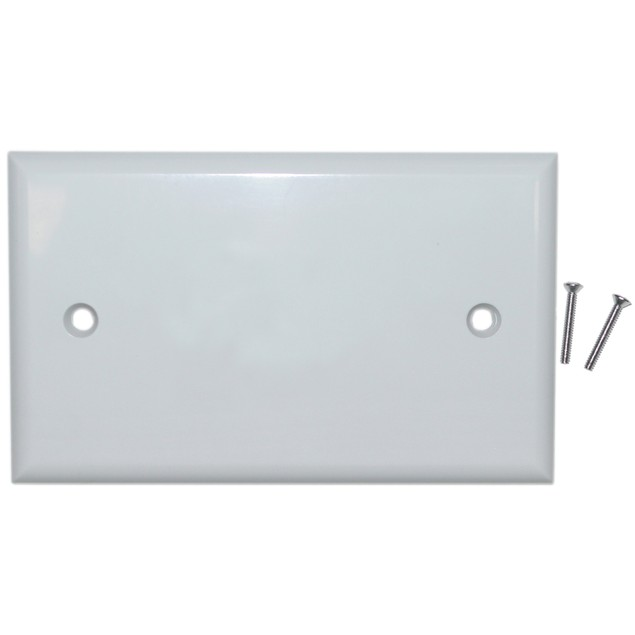 Wall Plate, White, Blank Cover Plate
