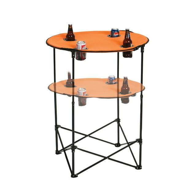 Picnic Plus  Scrimmage Tailgate Table Orange