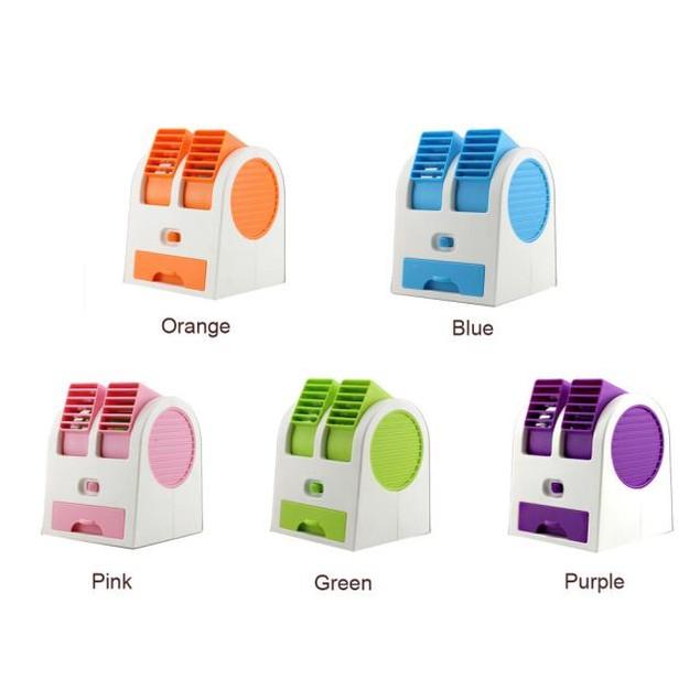 Portable USB Mini Air Conditioner Cooler Fan Dual Air Conditioner