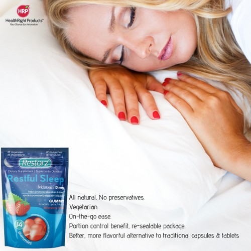 Restorz® Melatonin Restful Sleep Adult Gummies (Comes in 14 count pouches)