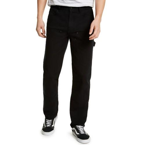 Sun + Stone Men's Rowland Relaxed Fit Carpenter Pants Black Size 33x30