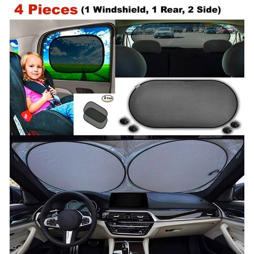 4-Piece Set: Vehicle Window & Windshield Car Sun Shades