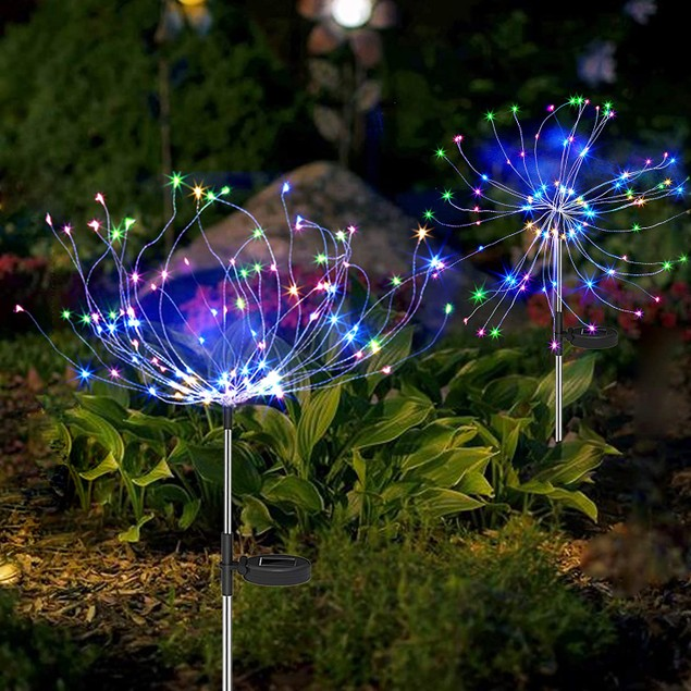 120 LED Solar Firework Starburst Outdoor Lights