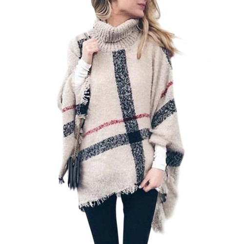 Women's Tassel Cape Shawl Loose Large Size Sweater