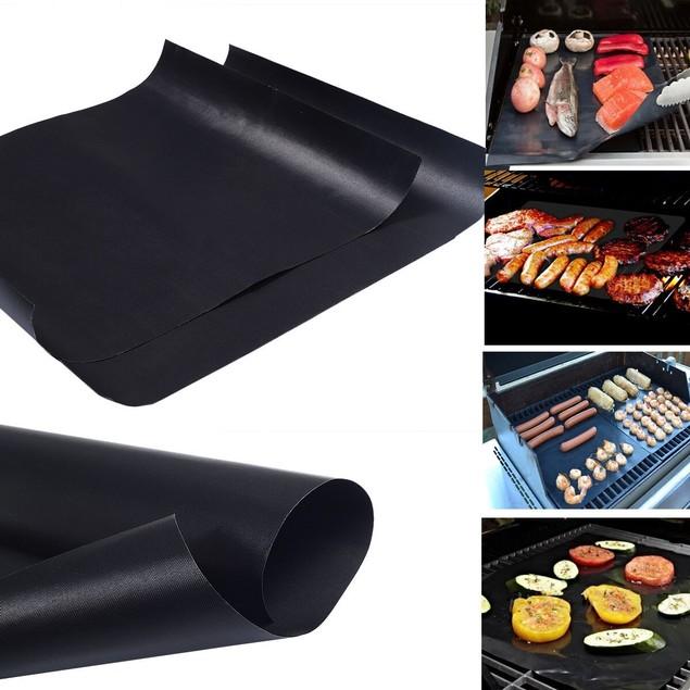 "4-Pack BBQ Grill Mats Non-Stick Reusable Barbecue Baking Mats 15.7"" x 23.6"""