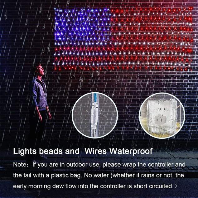 American Flag Net- 420 LED Lights