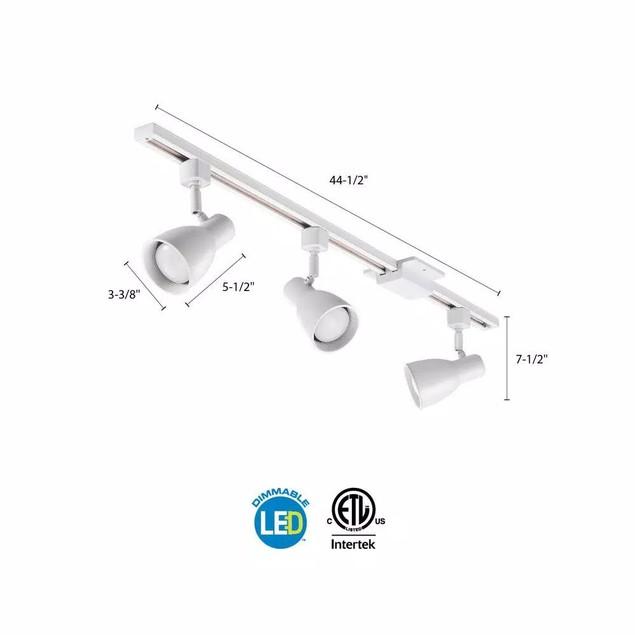 Lithonia Lighting Shade Baffle 3-Light Oil-Rubbed White LED Track Lighting