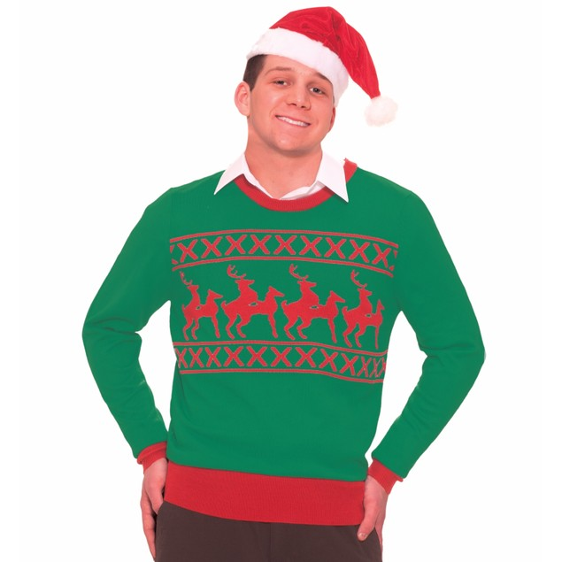 Naughty Reindeer Sex Ugly Christmas Sweater Tacky XMAS Holiday Sweatshirt
