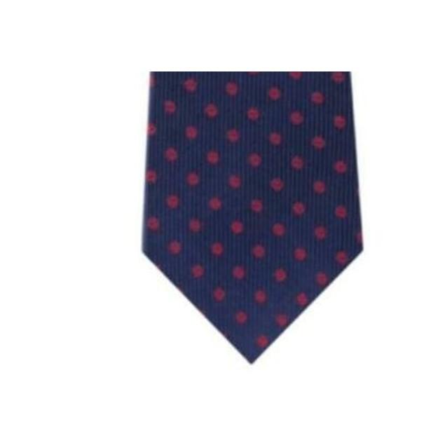Tommy Hilfiger Men's Mont Classic Dot Stripe Tie Pasblue Size Regular