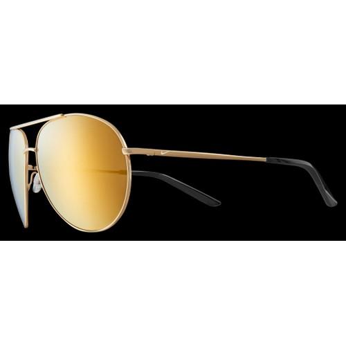 Nike Men Sunglasses NKEV1218 752 Gold 61 14 140 Gold Aviator Mirrored