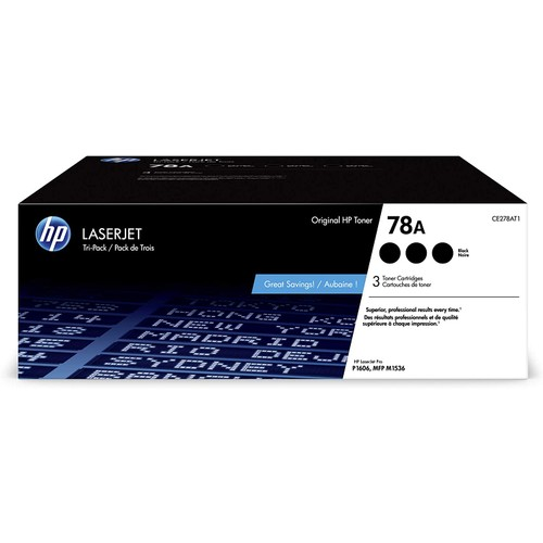HP 78A | CE278AT1 | 3 Toner Cartridges | Black