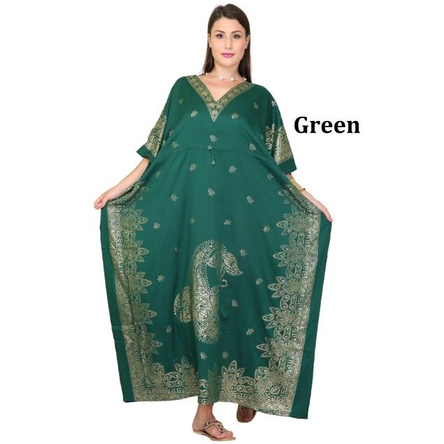 Women's Caftan Maxi Dress Abstract Caftan Dress