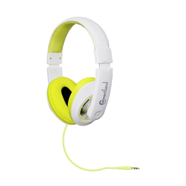 Binaural Design Lime / White Headset With 40mm Speaker