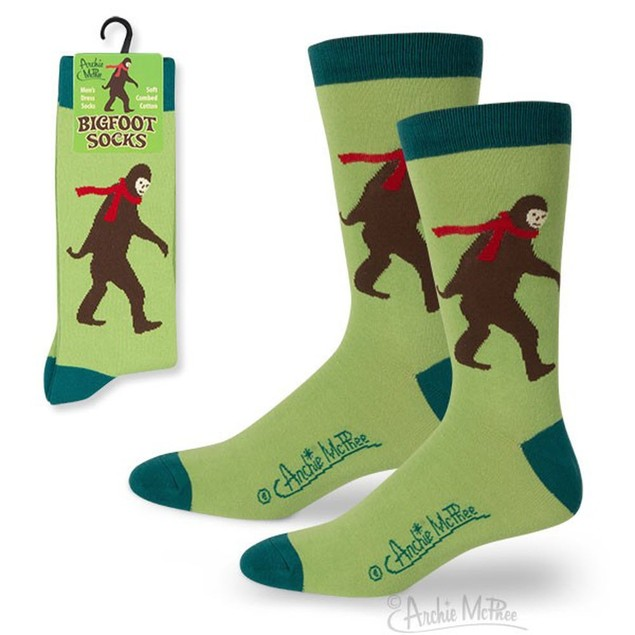Bigfoot Socks Big Foot Sasquatch Footwear Funny Novelty Gift