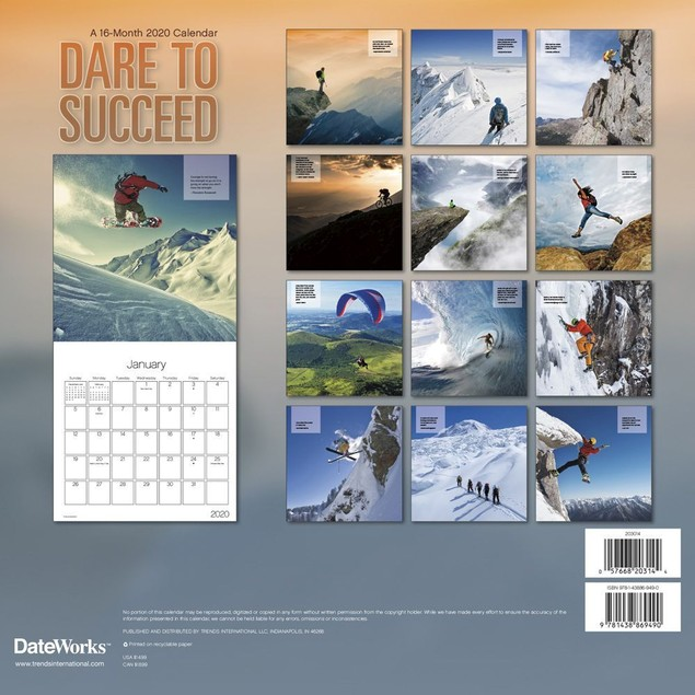 Dare to Succeed Wall Calendar, Motivation by Calendars