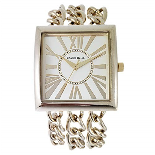 Charles Delon Women's Watches 4397 LACD Gold/Gold Stainless Steel Quartz Square